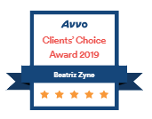 Avvo Clients' Choice Award 2019 - Beatriz Zyne
